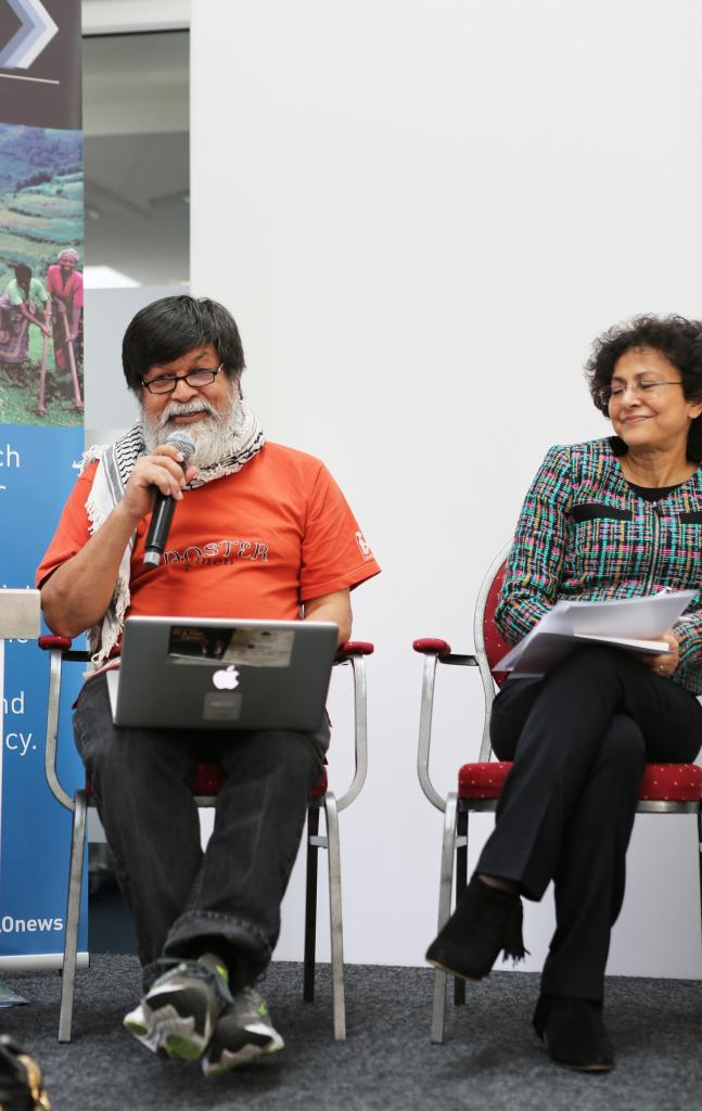 Shahidul Alam, Chairman, Majority World Photo Agency, and Irene Khan, Director-General of IDLO