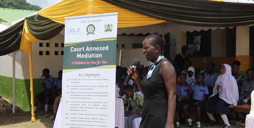 """Mediation is a good thing in the Children's Court"", Ms. Sarah Ater, Court Annexed Mediator in Mombasa, said. ""It serves to ensure that we parents share and honor our responsibilities and reminds us that in spite of our differences we must continue to think about our children and the children's best interests."""